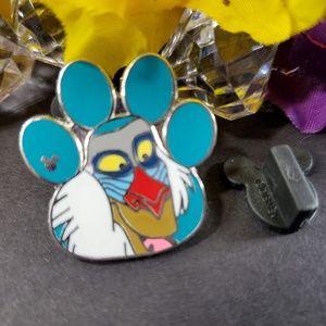4/$25 Disney Lion King Rafiki Foot Print Pin